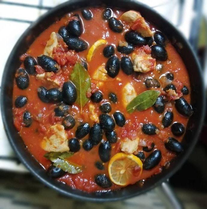 Romanian Chicken & Olive Stew