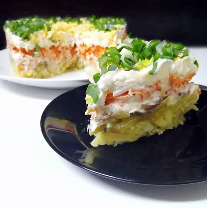 Mimosa Salad With Smoked Fish
